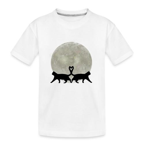 Cats in the moonlight - Teenager premium biologisch T-shirt