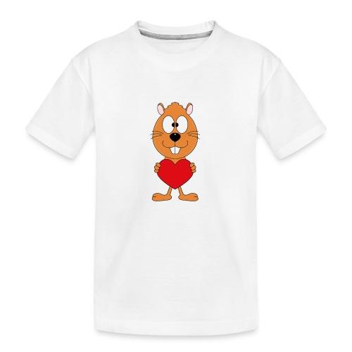 OTTER - BIBER - HERZ - LIEBE - LOVE - TIER - KIND - Teenager Premium Bio T-Shirt