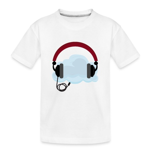 Headphone With Cloud - 21st Century Music Listenin - Teenager premium T-shirt økologisk