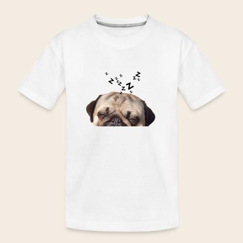 mops-schnarcht - Teenager Premium Bio T-Shirt