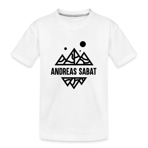 sabat logo black - Teenager premium T-shirt økologisk