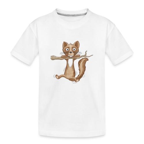 kleiner Baummarder - Teenager Premium Bio T-Shirt