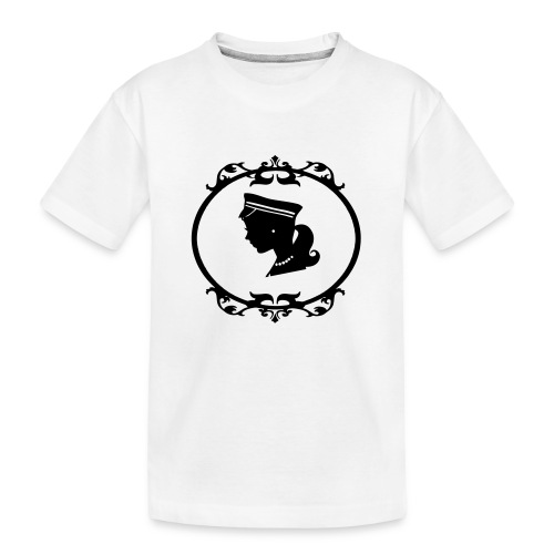 Mädel oval 1 farbig - Teenager Premium Bio T-Shirt