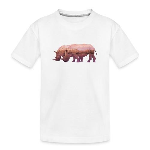 Nashorn Alpen - Teenager Premium Bio T-Shirt