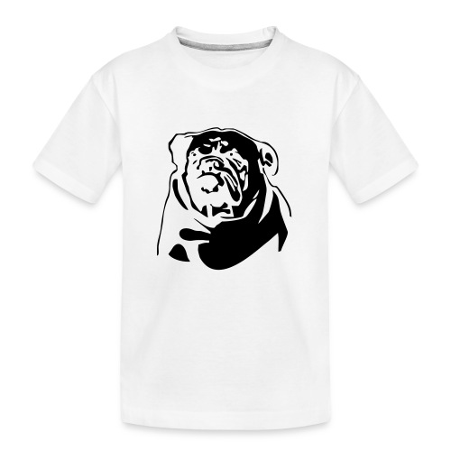 English Bulldog - negative - Teinien premium luomu-t-paita