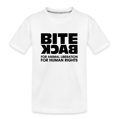 Bite Back logo - Teenager premium biologisch T-shirt