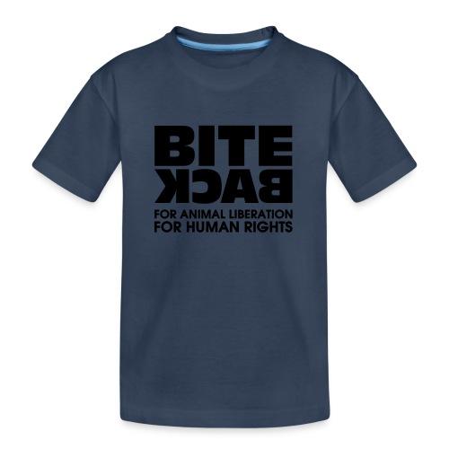 Bite Back logo - Teenager premium biologisch T-shirt