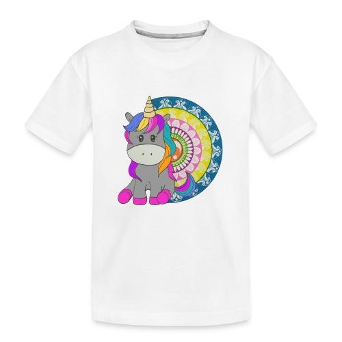 Unicorno Mandala - Maglietta ecologica premium per ragazzi