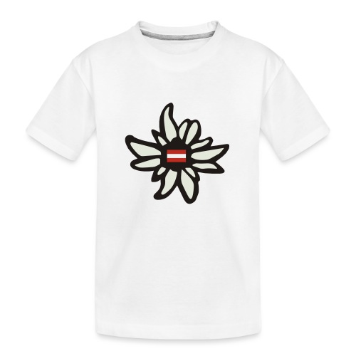 Edelweiss Austria - Teenager Premium Bio T-Shirt
