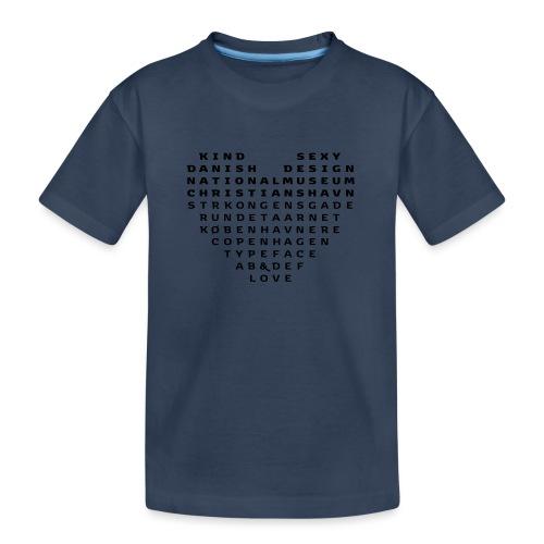 Copenhagen Heart - Teenager premium T-shirt økologisk