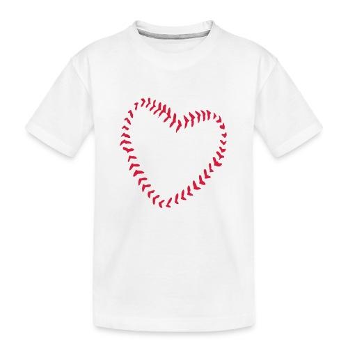 2581172 1029128891 Baseball Heart Of Seams - Teenager Premium Organic T-Shirt