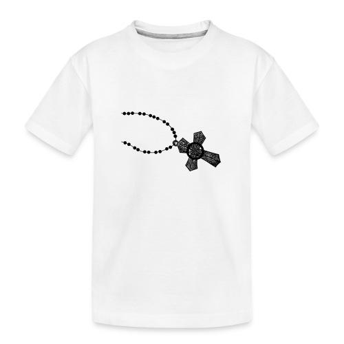 kruis 2 png - Teenager premium biologisch T-shirt