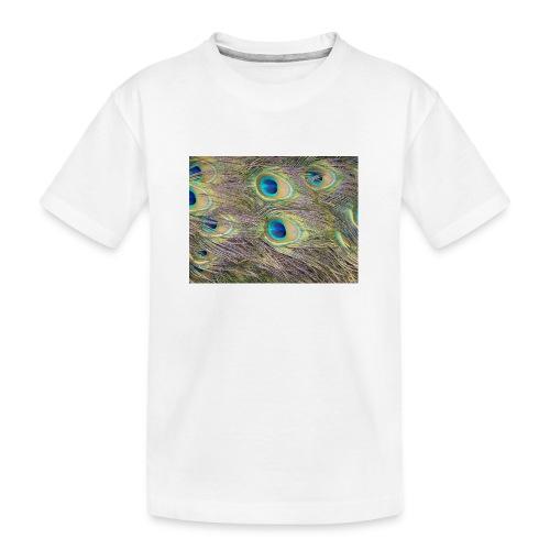 Peacock feathers - Teinien premium luomu-t-paita