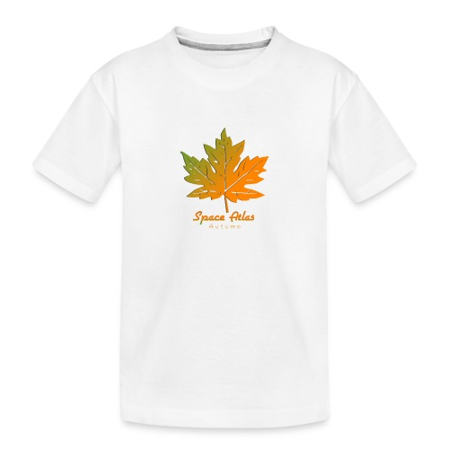 Space Atlas Long Sleeve T-shirt Autumn Leaves - Teenager premium T-shirt økologisk