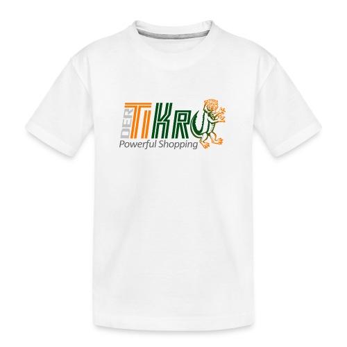 DerTiKro Tiger Krokodil - Teenager Premium Bio T-Shirt