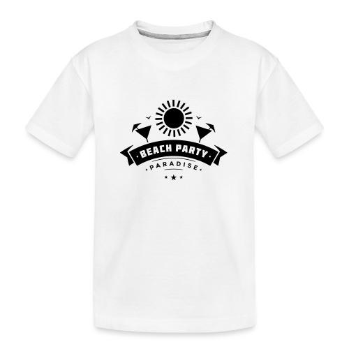 Beach party paradise - Teinien premium luomu-t-paita