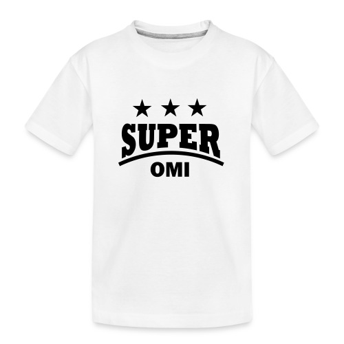 cool super omi raster - Teenager premium biologisch T-shirt
