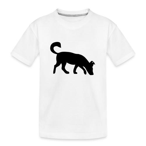 Hund schnüffelnd Mantrailing Spürhund - Teenager Premium Bio T-Shirt