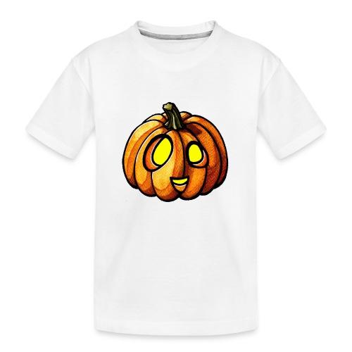 Pumpkin Halloween watercolor scribblesirii - Teenager Premium Bio T-Shirt