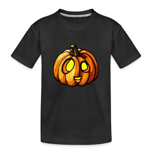 Pumpkin Halloween watercolor scribblesirii - Teinien premium luomu-t-paita