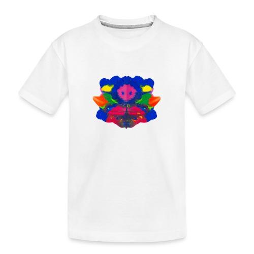 Tintenklecks mit Grusel-Alien in der Mitte - Teenager Premium Bio T-Shirt