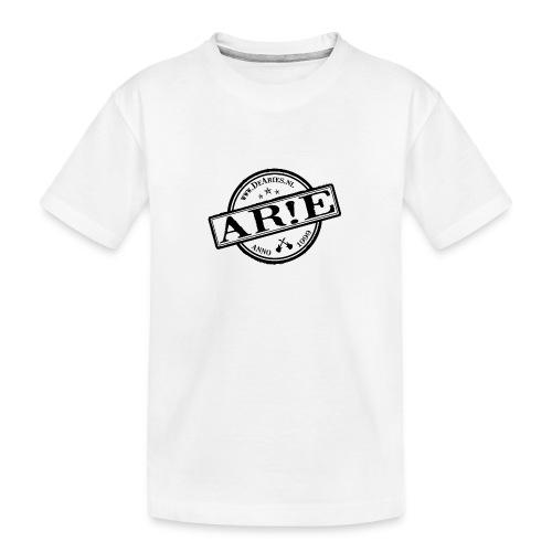 Backdrop AR E stempel zwart gif - Teenager premium biologisch T-shirt