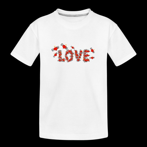 Flying Hearts LOVE - Teenager Premium Organic T-Shirt