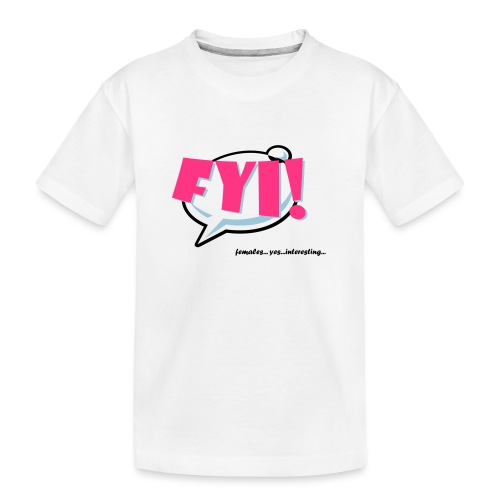 FYI.ai - Teinien premium luomu-t-paita