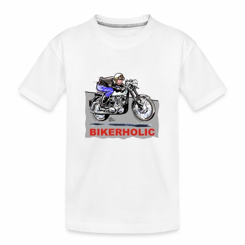 bikerholic - Teenager Premium Organic T-Shirt