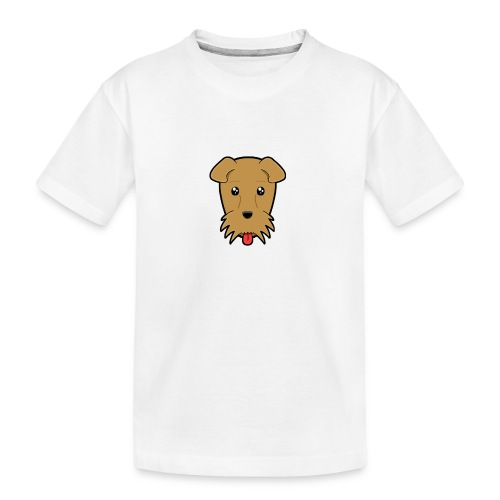 Shari the Airedale Terrier - Teenager Premium Organic T-Shirt