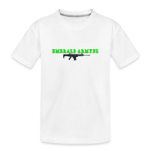 EMERALDARMYNL LETTERS! - Teenager premium biologisch T-shirt