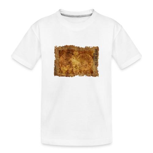 map of the world 2241469 1920 - Teenager Premium Bio T-Shirt