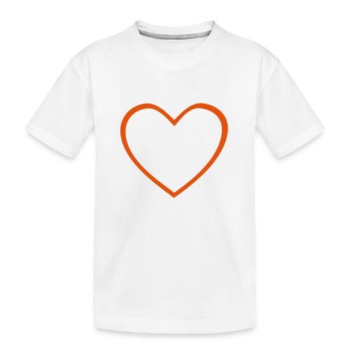Hjärta 4 - Ekologisk premium-T-shirt tonåring