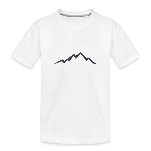 swiss alps clipart sihllouette ski mountains - Teenager premium biologisch T-shirt