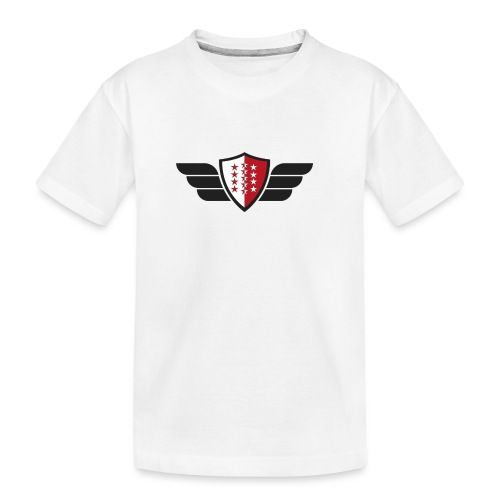 Flying Valais - Walliser Flagge mit Flügeln - Teenager Premium Bio T-Shirt