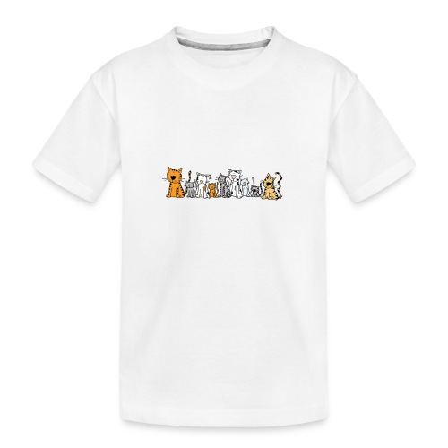 Cats & Cats - Teenager premium biologisch T-shirt