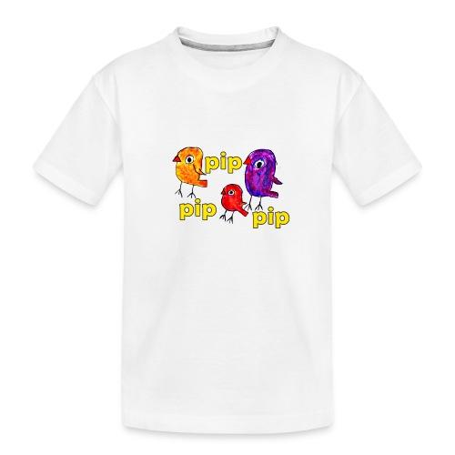 3er original pip pip pip gelb - Teenager Premium Bio T-Shirt