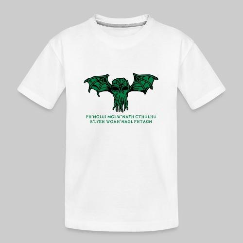 Cthulhu Wings Fhtagn - Teenager Premium Bio T-Shirt