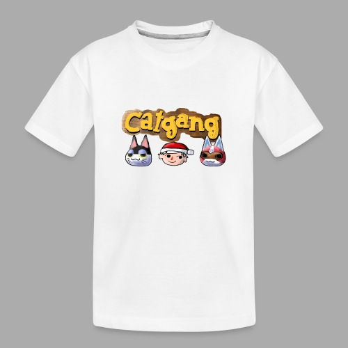 Animal Crossing CatGang - Teenager Premium Bio T-Shirt