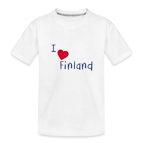 I Love Finland - Teinien premium luomu-t-paita