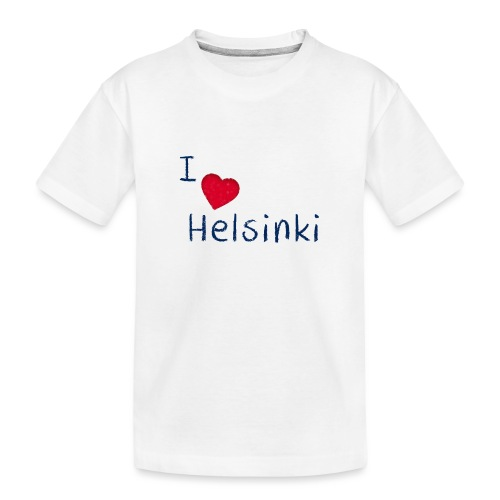 I Love Helsinki - Teinien premium luomu-t-paita