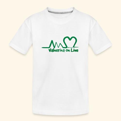 logo verde Associazione Valnerina On line - Maglietta ecologica premium per ragazzi
