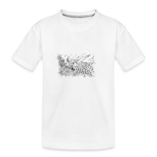 La panthère dans l'arbre - T-shirt bio Premium Ado