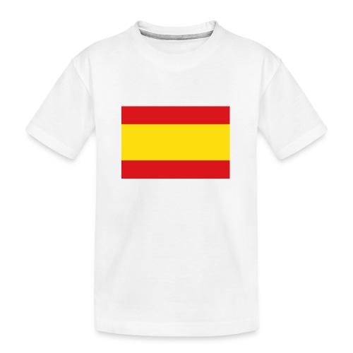 vlag van spanje - Teenager premium biologisch T-shirt