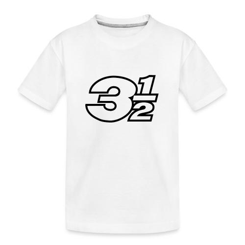 Three and a Half Logo - Teenager Premium Organic T-Shirt