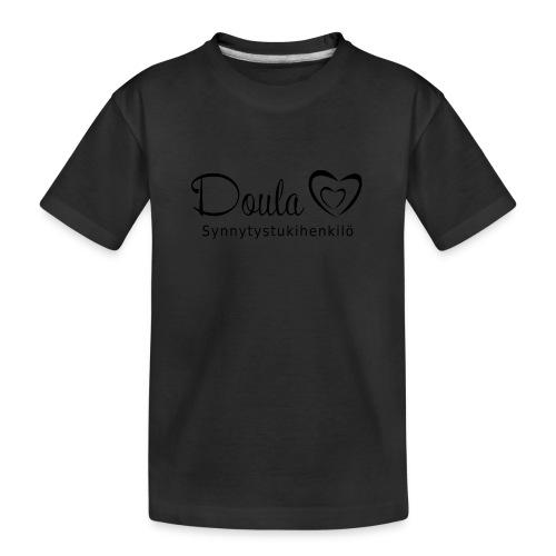 doula sydämet synnytystukihenkilö - Teinien premium luomu-t-paita
