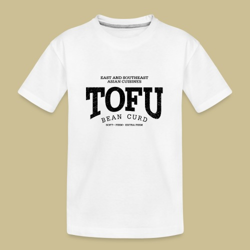 Tofu (black oldstyle) - Teenager Premium Bio T-Shirt