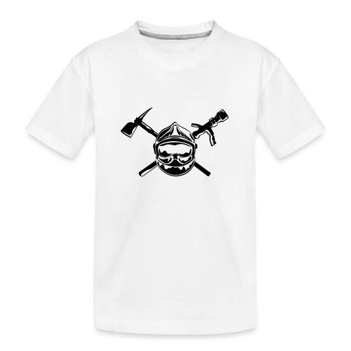 casque_pompier_hache et lance - T-shirt bio Premium Ado