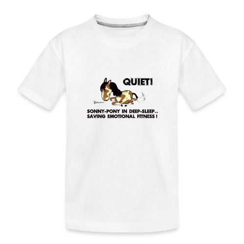 QUIET Sonny Pony in deep sleep - Teenager Premium Bio T-Shirt