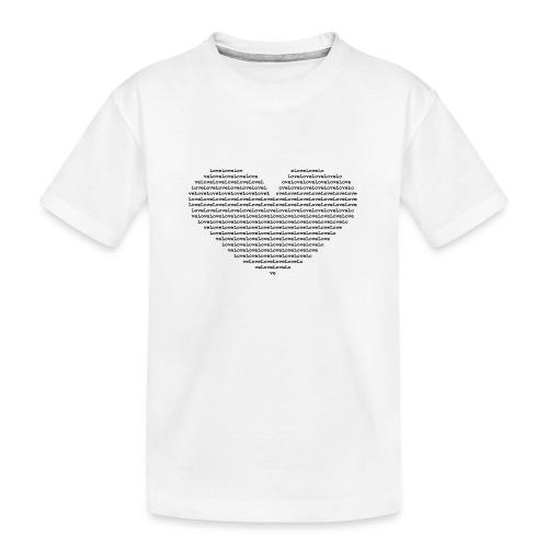 Isle of black Ascii Heart - Teenager Premium Organic T-Shirt